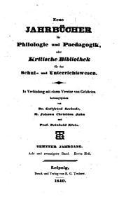 Jahnscher Jahrbücher für Philologie und Paedagogik: Band 28
