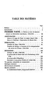 Tableaux d'hist. de la Suisse au 18e siècle