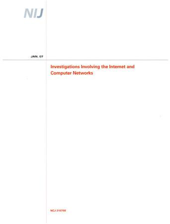Investigations Involving the Internet and Computer Networks PDF