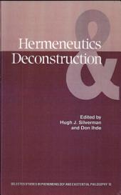 Hermeneutics and Deconstruction