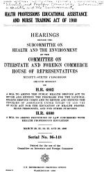 Health Professions Educational Assistance and Nurse Training Act of 1980