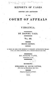 Cases Decided in the Supreme Court of Appeals of Virginia: Volume 7