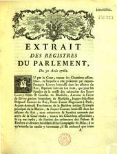 Extrait des registres... Du 31 août 1762. [Convertir l'argenterie des Jésuites en deniers]