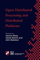 Open Distributed Processing and Distributed Platforms PDF