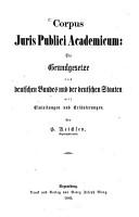 Das allgemeine Staatsrecht und das gemeine deutsche Staats  und Bundesrecht PDF