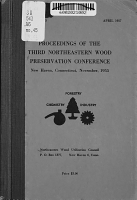 Proceedings of the Third Northeastern Wood Preservation Conference PDF