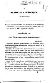 Extrait du Mémorial catholique: mai et juin 1827