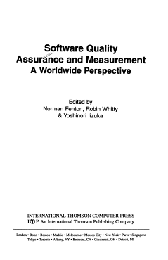 Software Quality Assurance and Measurement PDF