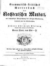 """Grammatisch-kritisches Wörterbuches der Hochdeutschen Mundart: th., von Seb-Z. 1801 (The projected second """"hälfte"""", which was to contain additions and corrections, was never published)"""