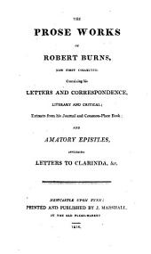 The prose works of Robert Burns