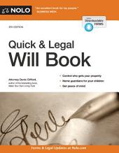 Quick & Legal Will Book: Edition 8