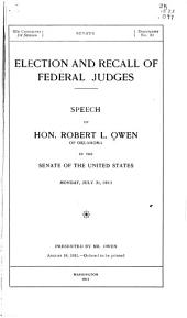 Election and Recall of Federal Judges