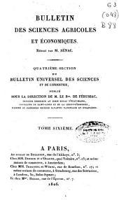 Bulletin des sciences agricoles et economiques: Volume6