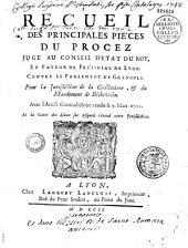 Recueil des principales piéces du procez jugé au Conseil d'Etat du Roy, En Faveur du Présidial de Lyon. Contre le Parlement de Grenoble. Pour la Jurisdiction de la Guillotiere, & du Mandement de Béchevelin. Avec l'Arrest Contradictoire rendu le 9. Mars 1701. Et la Carte des Lieux sur lesquels s'étend cette Jurisdiction