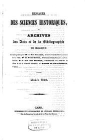 Messager des sciences historiques, ou Archives des arts et de la bibliographie de Belgique: Volume23;Volume34