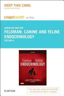 Canine and Feline Endocrinology Pageburst E-book on Kno Retail Acess Card