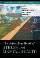 The Oxford Handbook of Stress and Mental Health PDF