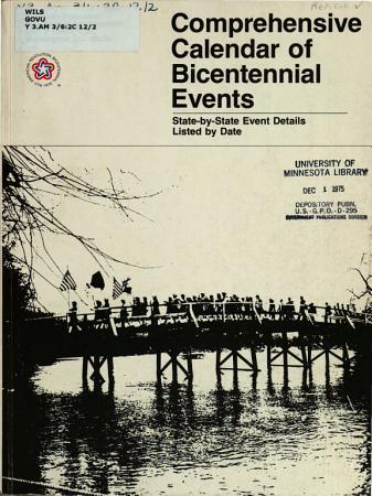 Comprehensive Calendar of Bicentennial Events PDF