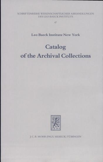 Catalog of the Archival Collections PDF