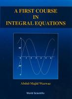 A First Course in Integral Equations PDF