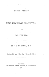 Descriptions of New Species of Coleoptera from California