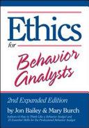 Ethics for Behavior Analysts PDF