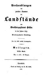 Verhandlungen der Zweiten Kammer der Landstände des Großherzogthums Hessen: 1863/65,[14]