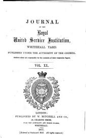 Journal of the Royal United Service Institution: Volume 20