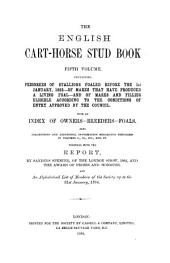 Shire Horse Stud Book: Volume 5