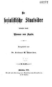 Die sozialistische Staatsidee beleuchtet durch Thomas von Aquin