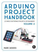Arduino Project Handbook  Volume 2 PDF