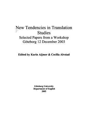 New Tendencies in Translation Studies PDF