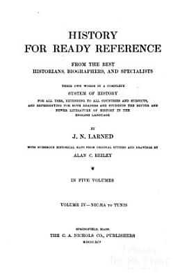 History for Ready Reference  from the Best Historians  Biographers  and Specialists  Nic  a Tunis PDF