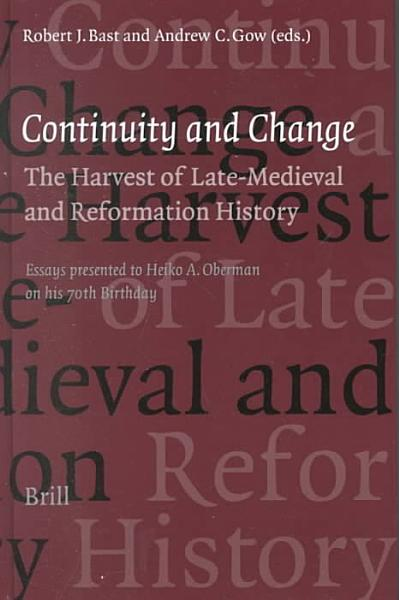 Continuity and Change PDF