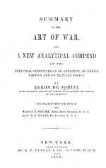 Summary of the art of war ... Translated from the French by ... O. F. Winship ... E. E. McLean