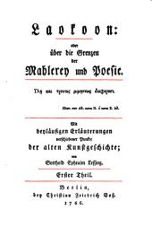 Werke: Laokoon, T. 1. Hamburgische Dramaturgie, 1-25