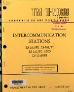 Intercommunication Stations, LS-200/FI, LS-201/FI, LS-202/FI, and LS-125B/FI.