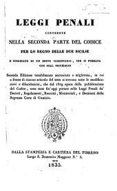 Leggi penali contenute nella seconda parte del codice per lo Regno delle Due Sicilie