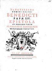 Epistola ad nobilem virum Flaminium Cornelium Senatorem Venetum