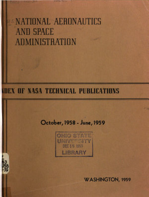 Index of N A S A Technical Publications PDF