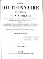 Grand Dictionnaire Universel  du XIXe Siecle  Francais   1   2  supplement 1878 90  PDF