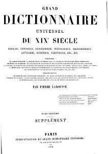 Grand Dictionnaire Universel  du XIXe Siecle  Francais   1   2  supplement 1878 90  PDF