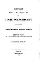 Zeitschrift der Savigny Stiftung f  r Rechtsgeschichte PDF