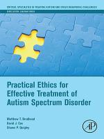Practical Ethics for Effective Treatment of Autism Spectrum Disorder PDF