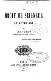 Le Droit du seigneur au moyen-âge