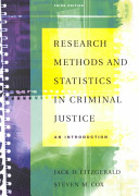 Research Methods and Statistics in Criminal Justice Book