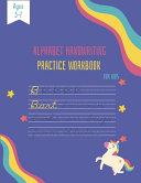Alphabet Handwriting Practice Workbook for Kids