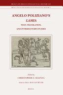 Angelo Poliziano's Lamia