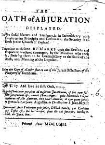 The Oath of Abjuration Displayed PDF