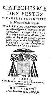 Catechisme des festes et autres solemnités et observances de l'église
